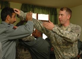 Soldiers, Airmen lend helping hand, hone ANP Skills